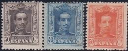 Espana   .    Yvert  .     281/283     .      *       .       Neuf Avec Gomme  .  /  .   Mint-hinged - 1889-1931 Königreich: Alphonse XIII.
