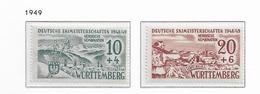 1949 MNH Württemberg-Hohenzollern - Zona Francesa