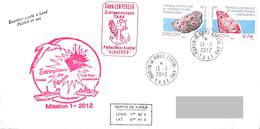 TAAF - Patrouilleur Albatros - Ile St Paul. Base Martin De Vivies. Mission N°1/2012. Police Des Pêches. - Brieven En Documenten