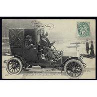 75 - PARIS Nouveau - Les Femmes Chauffeurs - Mme Decourcelle, La Cochère-Chauffeuse, Conduisant Un Autotax Au Bois - Artisanry In Paris