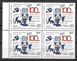 INDIA- 2020 INTERNATIONAL LABOUR ORGANISATION- ( ILO) 100 Years- MNH Block Of 4 - Organisaties