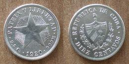 Cuba 10 Centavos 1920 Star Silver Argent Centavo Que Prix + Port Pesos Paypal Bitcoin - Cuba