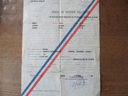 ORDRE DE MISSION COLLECTIF DU 4 JUIN 1958 4e COMPAGNIE SAHARIENNE DU GENIE LE CAPITAINE GILLOT POUR OUARGLA - Documents