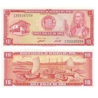 Billet Perou 10 Soles De Oro - Pérou