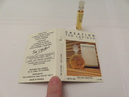 Echantillon ,tube Sur Carton Lapidus - Campioncini Di Profumo (testers)