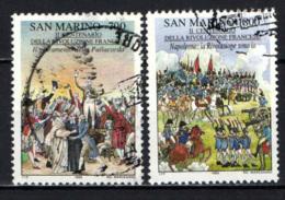 SAN MARINO - 1989 - BICENTENARIO DELLA RIVOLUZIONE FRANCESE - USATI - Oblitérés