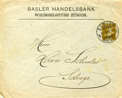 51691 Switzerland,  Stationery Cover Circuled  2rp  1910 Basler Handelsbank - Postwaardestukken