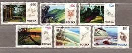FLOWERS ANIMALS TREES Poland 1976 Used Complete Set Mi 2442-50 #2713 - 1944-.... République