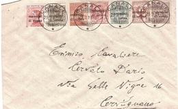 SERIE IN CENTESIMI DI CORONA LETTERA DA CANALE A CERVIGNANO - 1900-44 Vittorio Emanuele III