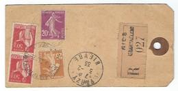 Etiquette Lettre Recommandée De 1933 Laboratoire De La Vieille Cure Et Des Phocéens, Nice Cap De Croix - Marcophilie (Lettres)