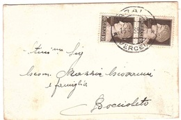 CONDOGLIANZE DA VARALLO A BOCCIOLETO VERCELLI - 1900-44 Vittorio Emanuele III