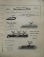 PONT BASCULE  WAGON  Ets Paul MORIVAL  La Madeleine Lez Lille  - Page Catalogue Technique De 1925 (Dims Env 22 X 30 Cm) - Chemin De Fer