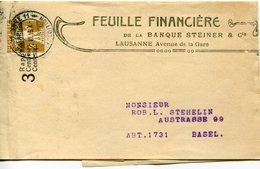 51693 Switzerland, 1915  Stationery For Newspapers 3c. Feuille Financiere Banque Steiner Lausanne - Interi Postali
