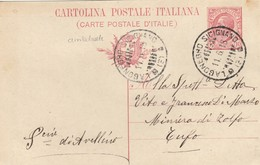 1918. Annullo Ambulante LAGONEGRO SICIGNANO,  Su Cartolina Postale Con Testo - 1900-44 Vittorio Emanuele III