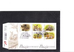 Buzin 4399/4403 Lapin De Garenne - Renard - Lynx - Chevreuil - Sanglier - 1985-.. Uccelli (Buzin)