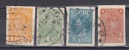 USSR 1929/32 - Freimarken, Mi-Nr. 365B, 366B, 367B, 369B, Used - 1923-1991 UdSSR