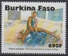 Burkina Faso 2019 Mi. ? Thème Artisanal Handicraft Handwerk Technique De Teinture à Base D'indigo - Burkina Faso (1984-...)