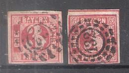 Bavière - 2x Yv.10 -  Obl/gest/used (à Voir) - Bayern