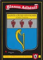 CPSM 84 SAINTE CECILE LES VIGNES BLASON ADHESIF  PEU COURANTE - France