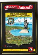CPSM 83 ST CYR SUR MER LECQUES LA MADRAGUE BLASON ADHESIF STATUE DE LA LIBERTE - Saint-Cyr-sur-Mer