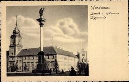 Cp Warszawa Warschau Polen, Zamek I Kolumna Zygmunta - Pologne