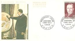 France CHATOU Enveloppe FDC 1er Jour 1964 Homme Célèbre Georges MANDEL Ancien Ministre Des Postes - F299 - FDC