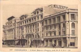 MAROC Morocco - CASABLANCA : L'HOTEL MAJESTIC - CPA - Afrique Du Nord - Maghreb - Casablanca