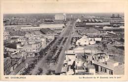 MAROC Morocco - CASABLANCA : Le Boulevard Du 4 ème Zouaves Vers Le Port - CPA - Afrique Du Nord - Maghreb - Casablanca