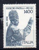 ITALIE - ITALY - 1983 - PIE XII - POPE - PAPE - EUGENIO PACELLI - 25éme ANNIVERSAIRE DE LA MORT - - 1946-.. République