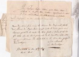 SCHRIECK Ventes De Bois 1832 Et 1834 Par Famille Van Der STEGEN De PUTTE 5 Documents - Manuscrits
