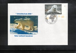 Germany / Deutschland 2008 Polar Bear FDC - Osos