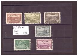 CANADA - No Michel 235-240 **  ( MNH / SANS CHARNIERE ) COTE: 90 € à10% COTE!! - WARNING:!!NO PAYPAL! - 1911-1935 Reinado De George V