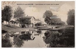 Maxilly Sur Saône : Les écluses Et Le Pont Sur Le Canal (Louys Et Bauer, Dijon) - Other Municipalities