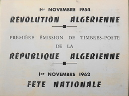ALGERIE 1962 - 1er Jour 1.11.1954 Révolution Algérienne - 1.11.1962 Fête Nationale - TBE - Algérie (1962-...)