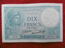 BILLET 10 FRANCS MINERVE SERIE BY 25 8 1932 BY  ETAT SUP QUASI NEUF - 1871-1952 Anciens Francs Circulés Au XXème
