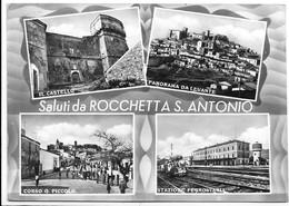 Saluti Da Rocchetta Sant'Antonio (Foggia). Vedutine. Stazione Ferroviaria. - Foggia