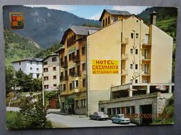 CP Andorre  VALLS D'ANDORRA  Alt 1304 M. - L'HOTEL CASAMANYA  Restaurant Bar  Voiture Panhard & Jaguar 1970 - Andorra