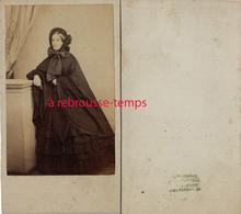 CDV Mode Second Empire-femme Aristocrate-beau Cliché-photographe à Bordeaux - Old (before 1900)