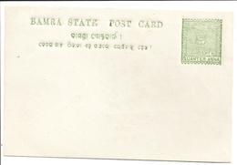 India, Feudatory State, Bamra, Postal Card, Mint Inde - Bamra