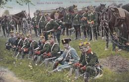 Armée Allemande Artillerie De Campagne Saxonne Sächs Feld-artillerie - Uniformes