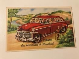 Carte Postale Ancienne  Avec Petit Dépliant Un Bonjour De L'Hôtel Des Ardennes à HOSCHEID - Clervaux