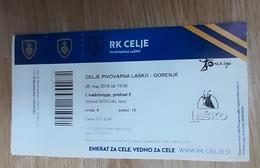 Handball Ticket RK Celje Pivovarna Lasko : RK Gorenje 25.5.2018 Slovenian League Slovenia - Tickets & Toegangskaarten
