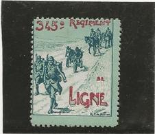 VIGNETTE 345 E REGIMENT DE LIGNE   -1914-18 - Erinnophilie
