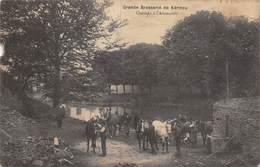 20-2264 : GRANDE BRASSERIE DE KERINOU. CHEVAUX A L'ABREUVOIR. - Brest