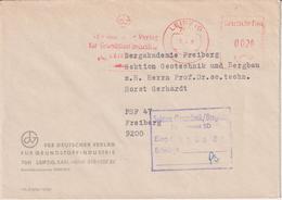 DDR, Brief Absenderfreistempel Deutscher Verlag Für Grundstoffindustrie Leipzig, 1986 - Briefe U. Dokumente