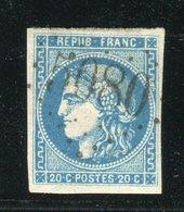 Rare N° 46B - Cachet GC 5080 Du Bureau Français D'Alexandrie ( Egypte ) - 1870 Ausgabe Bordeaux