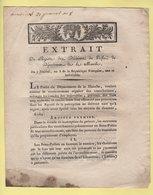 Prefet De La Manche - Extrait - 7 Prairial An 8 - Recouvrement Des Contributions Directes - Documents Historiques