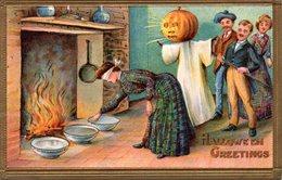 HALLOWEEN - ZUCCHE - PUMPKIN - GHOST - FIREPLACE - CAMINETTO- N 031 - Halloween