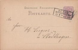 DR Ganzsache R3 Bünde In Westfalen 11.7. Gel. Nach Stadthagen - Briefe U. Dokumente