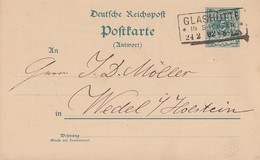 DR Ganzsache R3 Glashütte In Sachsen 24.2.92 - Briefe U. Dokumente